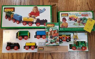 £34.15 • Buy Lot - BRIO Wooden Train Sets 33311 & Richard Scarry's Busytown 32515 In Box!