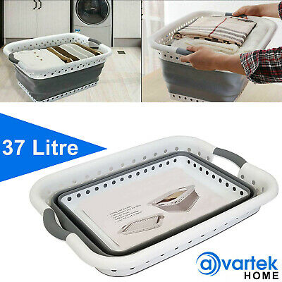 £13.95 • Buy Large Collapsible Laundry Basket Washing Clothes Folding Cloth Space Saving Bin