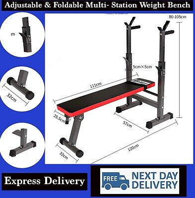 £47.99 • Buy Folding Flat Weight Lifting Bench Body Workout Exercise Benches Home Gym Fitness