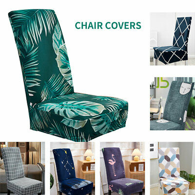AU5.99 • Buy Stretch Dining Chair Covers Slipcover Spandex Wedding Banquet Party Removable AU