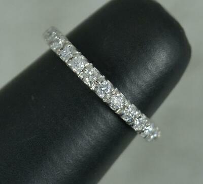 £545 • Buy Quality Platinum And 0.50ct Diamond 3/4 Eternity Stack Band Ring