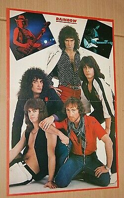£2.49 • Buy RAINBOW Early 1980 Band Large A3 Size Original Magazine Glossy VINTAGE Poster