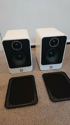 £100 • Buy White Gloss Q Acoustic Bookshelf Speakers 2010i Unboxed In Excellent Condition