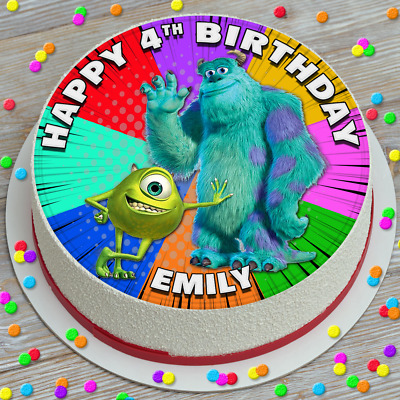 £2.99 • Buy Monsters Inc Birthday Personalised 7.5 Inch Edible Cake Topper Decoration Sp913