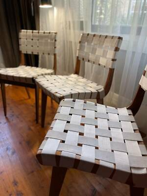 AU750 • Buy Mid Century Modern Snelling Parachute' Webbing Dining Chairs X 3