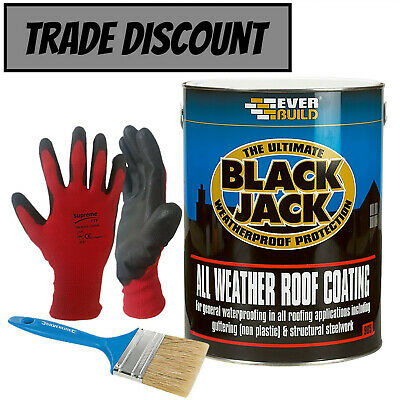 £27.99 • Buy Black Jack 905 All-Weather Roof Coating Sealant With Brush & Gloves - 5L & 25L