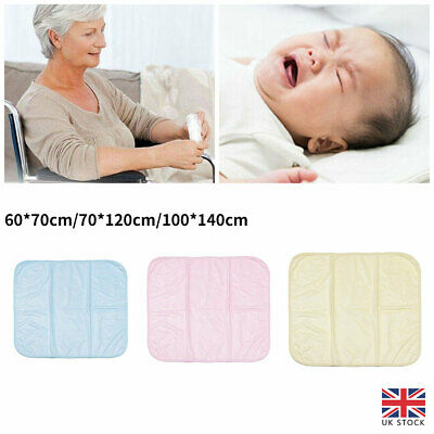 £7.05 • Buy Reusable Incontinence Bed Pad Washable Wetting Protective Dry Mats Absorbent UK