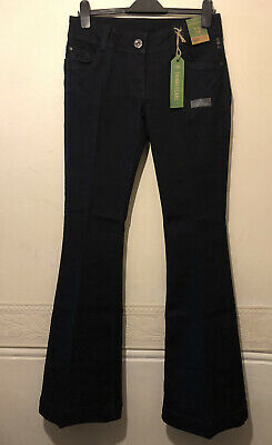 £20 • Buy Tall Long Black Skinny Flare Denim Jeans With Embroidered Pockets Size 12 Leg 33