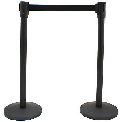 £24.99 • Buy Crowd Control Stanchions Posts With Retractable Belt Barriers Queueing Safety