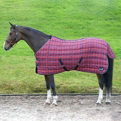 £59.99 • Buy Masta Quiltmasta 350g Heavyweight Stable Rug Red Check Size 5'6
