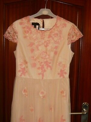 £99.90 • Buy Ted Baker Women's Light Pink / Peach Long Dress Size 3 Brand New With Tag