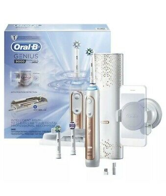 AU169 • Buy Oral-B Genius 9000 Electric Toothbrush - Rose Gold + 4-Pack Floss Action Heads