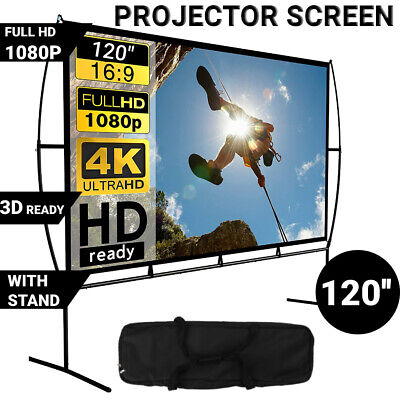 AU125.83 • Buy 120'' Fold Portable Projector Screen 16:9 HD Outdoor Home Cinema Theater Movie
