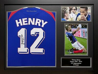 £299.99 • Buy Framed Thierry Henry Signed Original France 2007/08 Football Shirt Proof Coa