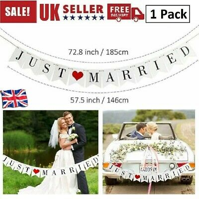 £3.79 • Buy  Just Married  Flag Wedding Banner Party Bunting Banners Decor Garden Outdoor UK