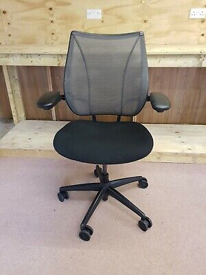 £165 • Buy Humanscale Liberty Black Ergonomic Office Chair, Adjst Arms, Height, Seat Slide