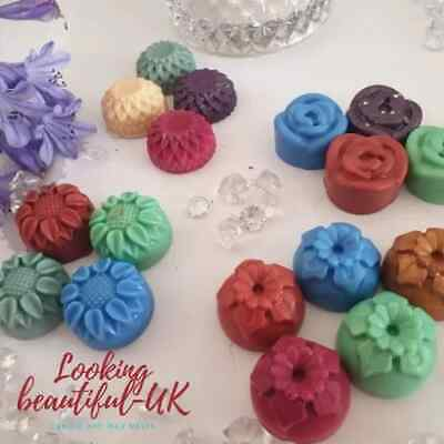 £2.25 • Buy Wax Melts Flowers, 6x Highly Scented Melts, Designer Scents, Vegan 45g Handmade