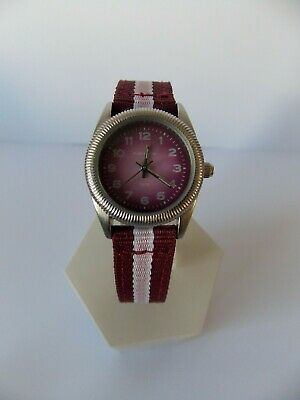 £5.99 • Buy Ladies /girls Kahuna Watch With Burgundy  And Pink Canvas Strap  New