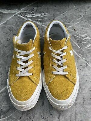 £9 • Buy ALL STAR Yellow Suede Converse, UK 5.5