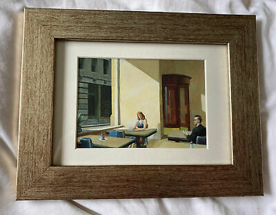 £6.80 • Buy Edward Hopper Sunlight In A Cafeteria Postcard Print In A Gold Toned Frame