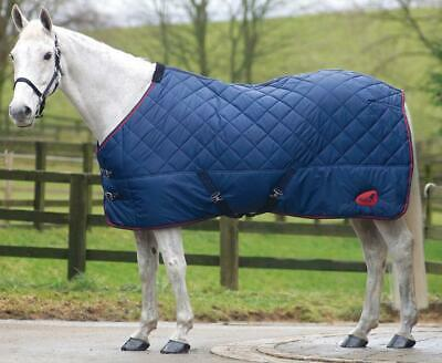 £28.99 • Buy Quiltmasta 300 Stable Rug With Standard Neck / Navy With Red Piping / 7ft