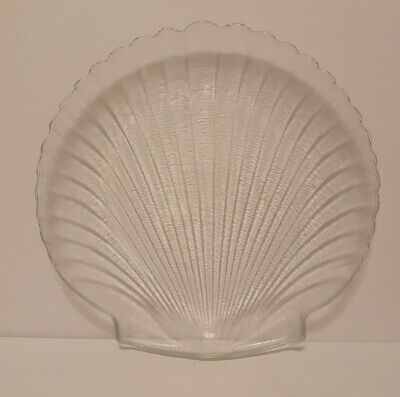 £20 • Buy Arcoroc France Coquillage Large Serving Platter J.G. Durand Tempered Glass Boxed