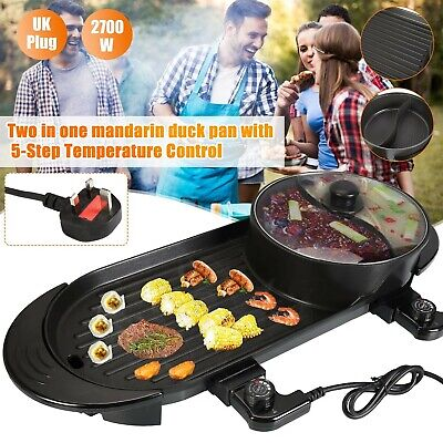 £38.94 • Buy 2700W 2-In-1 Electric Griddle Barbecue BBQ Grill With Hot Pot Home Party BBQ Pan