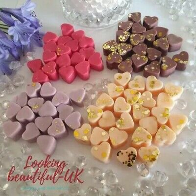 £1.69 • Buy Wax Melts 15x Highly Scented Mini Hearts Soy Wax BUY 4 GET 1 FREE Many Fragrance