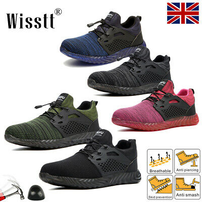 £17.75 • Buy Women Steel Toe Cap Work Boots Safety Shoes Cushion Hiking Lightweight Trainers