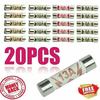 £3.99 • Buy Cartridge Fuses Mixed 13 AMP Electric MAINS Power Plug Household Ceramic BS1362