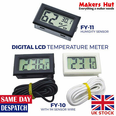 £4.49 • Buy Digital Electronic Thermometer - Temperature Probe - Fish Pond - Baby Room