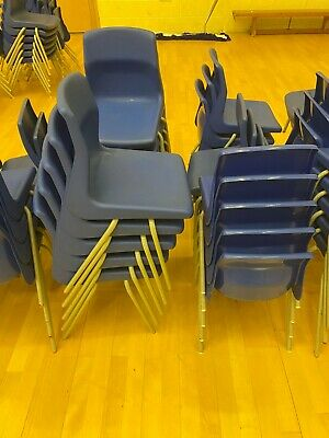 £150 • Buy 69x Blue Primary School Plastic Chairs (job Lot) Collection Only