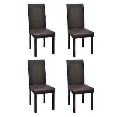 AU356.95 • Buy Dining Chairs 4 Pcs Brown Faux Leather