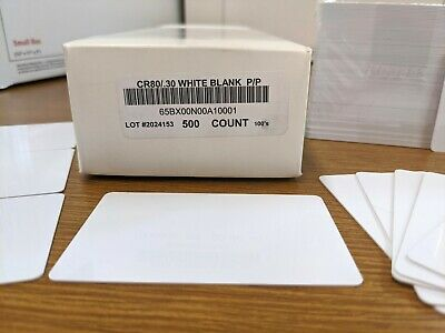 £25.36 • Buy 500 X CR80/.30 Mil Blank White Graphic Quality PVC Credit Card ID Printer Sealed