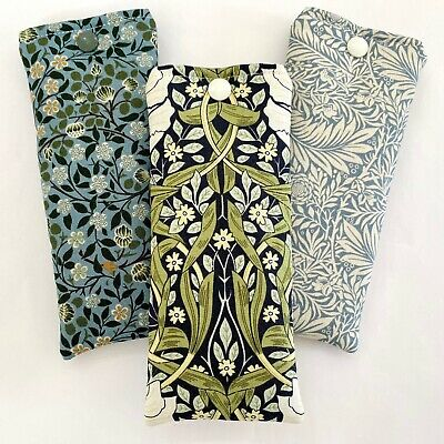 £4.20 • Buy Glasses Case Pouch Handmade | William Morris Floral | Padded Soft Case Lined