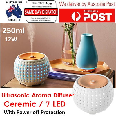 AU94.99 • Buy 250ml Ultrasonic Aroma Air Humidifier Aromatherapy Diffuser Essential Oil 7 LED