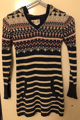 £12.99 • Buy Fatface Jumper Dress Fairisle Striped  Navy And White Age 6-7 Fat Face