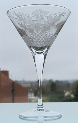 £25 • Buy  Quality Thistle Design Champagne/ Cocktail Glass ( Frosted Finish Hand Cut )