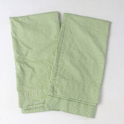 £17.62 • Buy Pottery Barn Kids Green Gingham Pair Of Curtain Panels 42  X 42