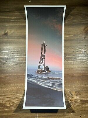 """£56.89 • Buy JAWS """"The Buoy"""" Art Print Poster By JC Richard Signed Full Size PP Mondo"""