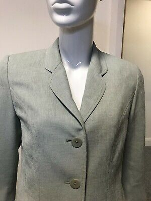 £9.99 • Buy Sage Green Jacket With Three Quarter Length Sleeves By Eastex - Size 10