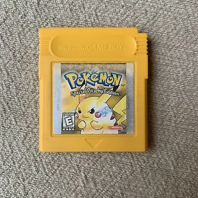 $59.99 • Buy Authentic Pokemon Yellow Pikachu Edition Gameboy Color New Save Battery FAST GBC