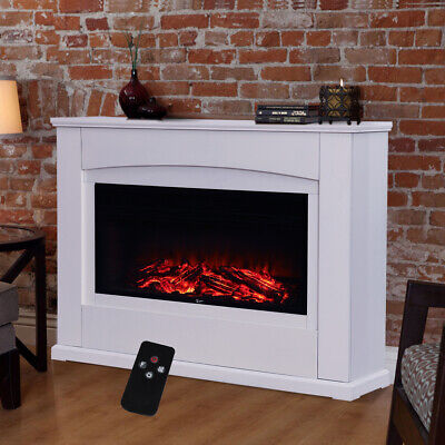 £255.95 • Buy 34  LED Electric Fireplace Insert Heater Free Standing Stove Fire Wall Mount UK