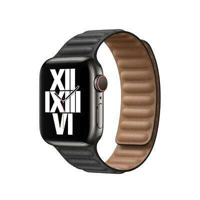 AU799 • Buy NEW APPLE Watch Series 6 Cellular 44mm Space Grey  Link Leather Band APPLE CARE+