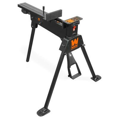 AU186.71 • Buy Universal Clamping Saw Horse Foldable Non-Marring Jaws Foot Pedal Steel-Frame