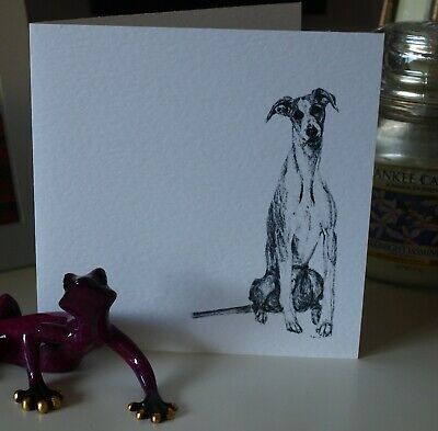£3.25 • Buy Whippet Dog Greetings Card, Birthday, Pen And Ink By Louisa Hill