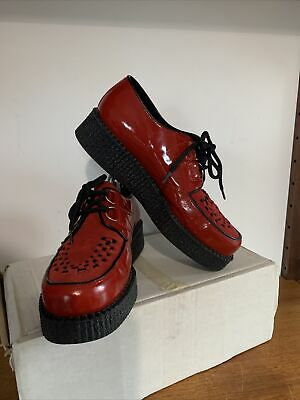 £35 • Buy UNDERGROUND Wulfrun  Shoes - Red Leather Suede  UK Size Y 40EUR MINT