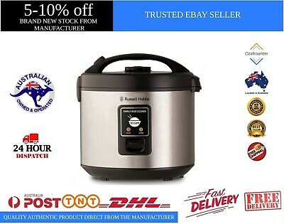 AU68 • Buy Russell Hobbs RHRC1 Rice Cooker 10 Cup, Silver