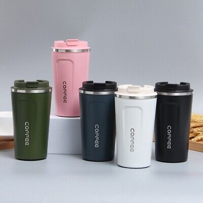 AU21.45 • Buy Travel Coffee Mug Cup Insulated Thermal Stainless Steel Flask Vacuum Thermos Cup