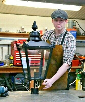£200 • Buy USED Ex-Display 87cm Tall Black Victorian Lantern Replacement Lamppost Light Top